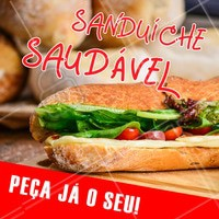 Quem disse que saudável não pode ser delicioso? Experimente nossos sanduíches saudáveis! #sanduichesaudavel #comidasaudavel #ahazou #saudavel #saude
