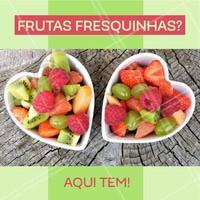 Aqui você encontra uma variedade enorme de frutas fresquinhas! #feira #frutaria #ahazou #alimentaçao