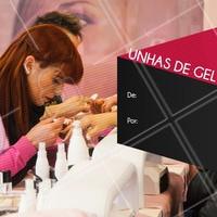 O alongamento de unhas perfeito é AQUI! Agende sua visita! #unhasdegel #manicure #ahazou  #nailart