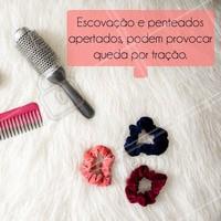 Forçar os fios pode acelerar o processo de queda. Tome cuidado! #ahazou #cabelos #queda