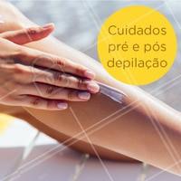 Os cuidados com a pele antes e depois da depilação são necessários para garantir o efeito duradouro da depilação. Veja o que fazer antes e depois da depilação: - Três dias antes é indicado fazer uma esfoliação na pele para remover as peles mortas;  - Evite usar cremes hidradantes ou óleo antes da depilação; - Faça depilação de preferência à noite para dar tempo da pele de se recuperar - Após a depilação evite exposição solar no mesmo dia;  - Não use produtos que contenham álcool na fórmula.  #depilacao #ahazou #dicas #cuidados #mulher
