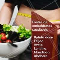 Emagrecer com saúde é saber escolher os alimentos certos para a sua dieta! #ahazou #carboidratos #dieta #saude