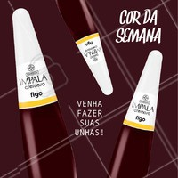 Que tal um vinho essa semana? A cor Figo, da Impala fica linda nas unhas. Marque agora o seu horário. #manicure #ahazou #esmalte #unhas #manicureahazou #impala