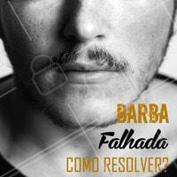 Para resolver esse problema: aparar algumas áreas da barba faz com que as outras pareçam mais cheias. Cortar mais curto nas laterais também acentua o comprimento que você tem em outros lugares! Se você sempre sofre com esse problema, conte com nossa equipe especializada 😎 #barba #ahazoubarbearia #barbearia #barbafalhada