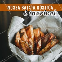 Aproveite para chamar os amigos e vir provar essa delícia! #batata #gastronomia #ahazou #amigos #comida #ahazoutaste