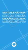 Não deixe de se cuidar! Agende já o seu horário. WhatsApp: XXXX #massagem #relaxamento #ahazou #secuide