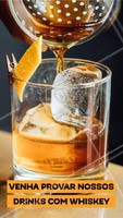 Gosta de Whiskey? Então venha para cá provar nossos drinks especiais! #gastronomia #ahazou #drinks #bar #whiskey #ahazoutaste #noite