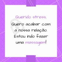 Corte relações com o estresse, a ansiedade, e a insônia. Venha relaxar, agende o seu horário! #massagem #relaxar #ahazou #estresse #ansiedade #insonia
