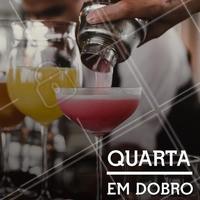 Vai sair com as amigas hoje? Venha para cá aproveitar a quarta em dobro de drinks! #gastronomia #ahazou #drinks #bar #ahazoutaste #noite