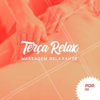 Preço promocional somente às terças-feiras. Agende a sua sessão e venha relaxar com a gente! #massagem #ahazou #massagemrelaxante #promocao #terca
