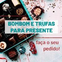 Aproveite para fazer o seu pedido! #gastronomia #ahazou #bombom #ahazoutaste #doces
