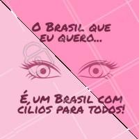 Hahaha esse Brasil ia ser sucesso, concordam? #extensaodecilios #ahazou #alongamentodecilios