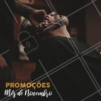 Aproveite os preços especiais do mês de novembro! #barbearia #ahazoubarbearia  #promocional