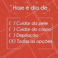 E aí, qual é a escolha pra hoje? #depilação #ahazouestetica #esteticacorporal