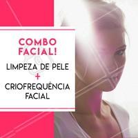 Aproveite este combo e renove sua pele! #esteticafacial #ahazouestetica #limpezadepele #criofrequencia