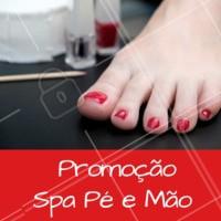 Venha fazer os cuidados especiais do SPA para mão e pés. #manicure #ahazou #spamaopes