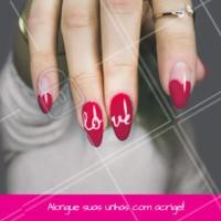Aproveite para alongar as unhas. Agende seu horário. #manicure #ahazou #acrigel