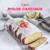 Experimente os nossos deliciosos bolos caseiros. #gastronomia #ahazou #bolos #bolocaseiro #ahazoutaste #doces #confeitaria