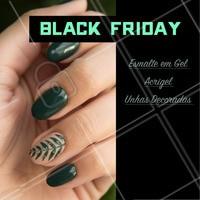 Venha aproveitar o desconto da Black Friday!  #unhas #manicure #esmalteemgel #unhasdecoradas #acrigel #blackfriday #ahazou #promocao