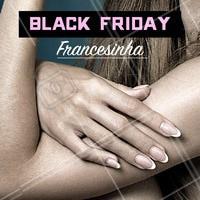Venha aproveitar o desconto da Black Friday!  #unhas #manicure #francesinha #blackfriday #ahazou #promocao