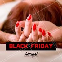 Venha aproveitar o desconto da Black Friday!  #unhas #manicure #acrigel #blackfriday #ahazou #promocao