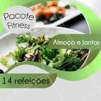 Aproveite para assinar o Pacote Fitness e garantir uma alimentação saudável e balanceada durante toda a semana. #marmita #ahazou #fitness #gastronomia #ahazoutaste #dieta #trabalho