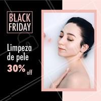 Black Friday imperdível para você! Aproveite para fazer os serviços com desconto. #esteticafacial #ahazou #desconto #blackfriday #promocao #desconto