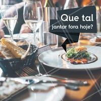 Venha jantar aqui hoje! #jantar #ahazou #gastronomia #restaurante #ahazoutaste