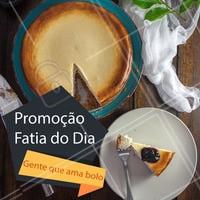 Venha comer um delicioso bolo, aproveite a promoção da fatia do dia! #bolos #ahazou #promocao #doces