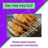 Entregamos no dia do evento. Faça o seu orçamento pelo telefone XX #festas #ahazou #gastronomia #salgados