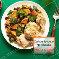 Nem sempre se alimentar direito é fácil no trabalho. Por isso temos um cardárpio ideal para quem não quer sair da linha da dieta. Entre em contato para receber as opções da semana. #marmita #ahazou #fitness #gastronomia #ahazoutaste #dieta #trabalho