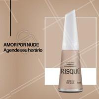 Venha fazer as unhas com a novidade em Nude da Risqué. #esmaltes #ahazou #manicure #unhas #risque #ahazoumanicure