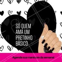 Quem ama um esmalte preto? 💅🏻 #ahazou #manicure #unhas #risque #ahazoumanicure