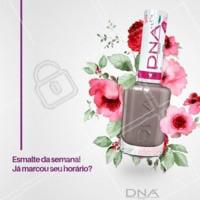 O nude nunca sai de moda. Esse da DNA Italy é maravilhoso!! #ahazou #manicure #unhas #dna #ahazoumanicure