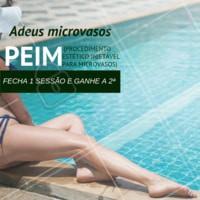 Aproveita a nossa promoção para realizar o tratamento PEIM que elimina microvasos! Agende agora mesmo uma avaliação. #peim #ahazou #esteticacorporal #vasos #ahazouestetica #verao #corpo #pernas