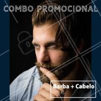 Agende seu horário e aproveite o combão. #homens #ahazoubarbearia #barba #cabelo #estilomasculino #promocao #combo