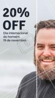 Desconto para ELES! Dia internacional dos homens #barbearia #homens #ahazoubarbearia #diadohomem #promocao