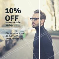 Aproveite seu dia e nossa promoção. Agende seu horário! #barbearia #homens #ahazoubarbearia #diadohomem #promocao