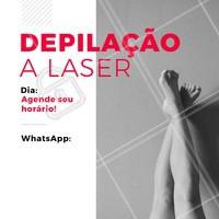 Não perca o nosso dia de depilação a laser! Agende já o seu horário pelo WhatsApp XXXX #depilacao #laser #ahazou #depilacaoalaser #laserday