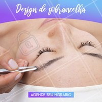 O design ideal realça o seu olhar e te deixa mais linda! Agende seu horário agora mesmo! #designdesobrancelha #ahazousobrancelha #sobrancelha