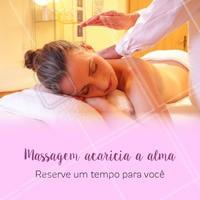 Reserve um tempo para cuidar do seu corpo e da sua mente. A massagem é perfeita para ajudar em diversos aspectos da sua saúde! #massagem #ahazou #massoterapia