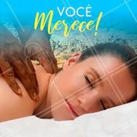 Você merece um tempo para cuidar de si mesmo! Venha relaxar! #massagem #ahazoumassagem #massoterapia #bemestar
