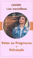 Aproveite esse combo e tenha o liso maravilhoso dos seus sonhos! Você merece, agende já seu horário e não perca os precinhos especiais. #combopromocional #ahazou #cabelo #botox #progressiva