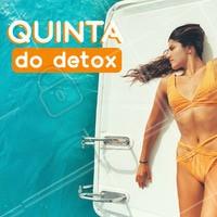 Aproveite para fazer seu detox corporal e perder medidas com precinho especial, só nessa Quinta! #esteticacorporal #ahazou #detoxcorporal