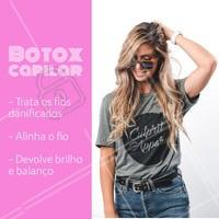 O botox capilar se popularizou pelos seus inúmeros benefícios! Você já conhece? Agende seu horário e venha conhecer: cabelos mais alinhados, brilhantes e saudáveis. #cabelo #ahazou #botox #botoxcapilar