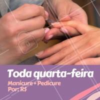 Quarta-feira? Venha fazer as unhas e aproveitar essa promoção 💅🏼😍 #unhas #manicure #ahazou #pedicure #promocao #quarta