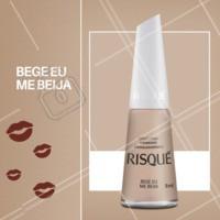 Quem é que não ama um nude? Bege eu me beija é o esmalte da nova coleção Risqué Nude MisturaBrasileira. Venha ver essa novidade! #unhas #manicure #ahazou #pedicure #risque #ColeçãoRisquéNudeMisturaBrasileira #VocêDáOTom