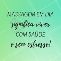 Não deixe o estresse tomar conta da sua vida! Lembre-se de tirar um tempinho para relaxar e cuidar de si mesmo. #massagem #ahazoumassagem #massoterapia #bemestar