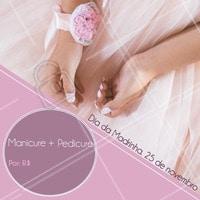 Em homenagem ao dia da madrinha, estamos com uma promoção de manicure e pedicure. Agende seu horário! 💅🏼 #unhas #manicure #ahazou #pedicure #promocao #diadamadrinha