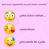 Coloque nos comentários o emoji que mais te representa! Não importa o momento da sua pele, é sempre importante ter o acompanhamento profissional da sua esteticista de confiança. ;) #esteticafacial #ahazou #emoji